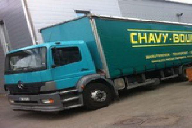 Graphitec 2011 - la presse offset H-UV Komori charg�e sur 3 camions