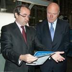 Visite d'un pr�sident de Conseil G�n�ral � l'imprimerie Sego (95)