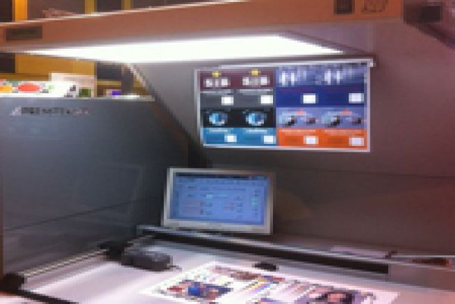 Graphitec 2011 - Presstek a d�montr� comment la presse 52DI s�int�grait � 100 % dans un flux num�rique