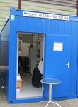 Photo du jour de la Drupa - les exposants en containers !