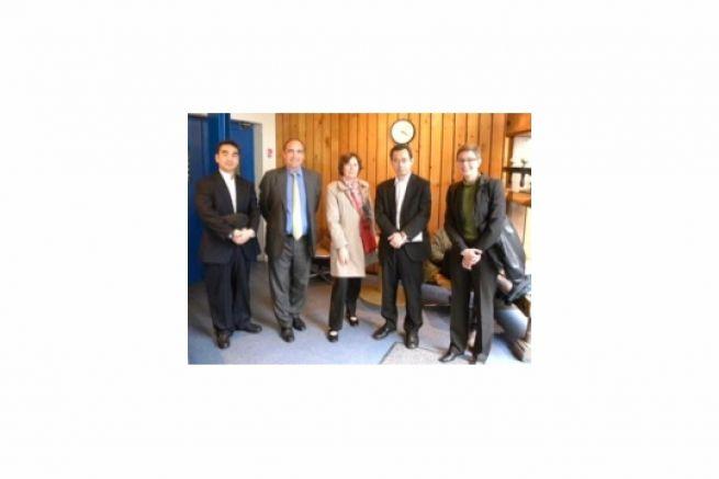 De gauche à droite : H. Shimizu, G. Goujon, A-M. De Noose, H. Nakamura et B. Klose