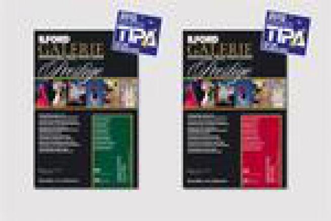 2 papiers jet d'encre Ilford Imaging r�compens�s par la Tipa