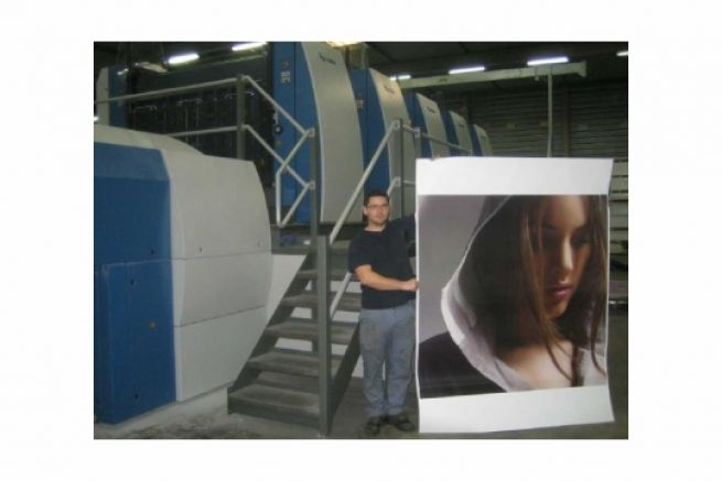 La toute nouvelle presse offset de l'imprimerie Chabrillac : un mastodonte de 200 tonnes...