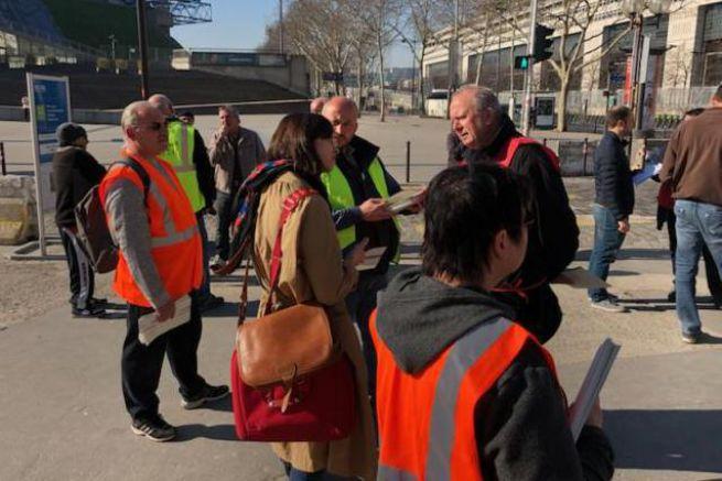 Mobilisation devant Bercy le 27 février.