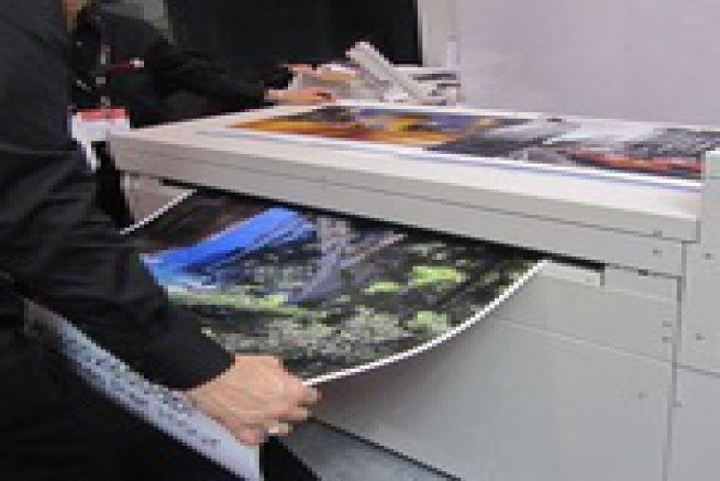 Les directs de la Drupa - du grand format Fuji-Xerox Memjet 585 m2/ heure sur le stand Caldera