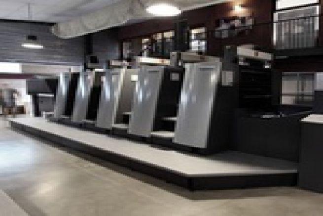 Cl�ment Imprimeurs (30) r�ceptionne une presse offset Heidelberg XL 75 5 couleurs