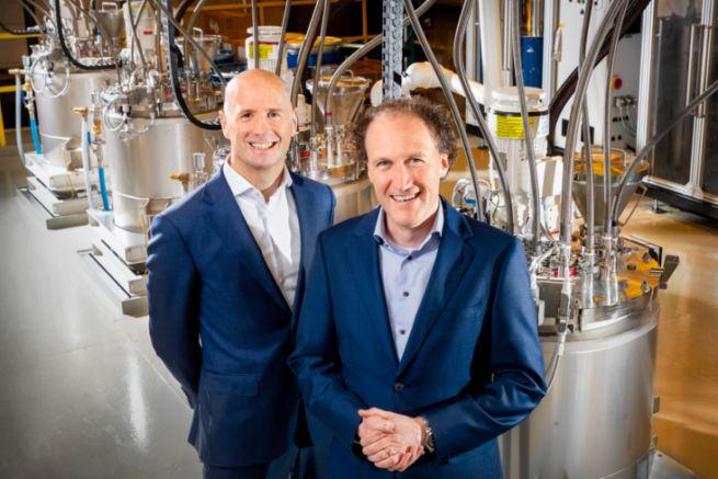 Dirk Brouns (à g.) et Rob Puts de la division Canon Production Printing
