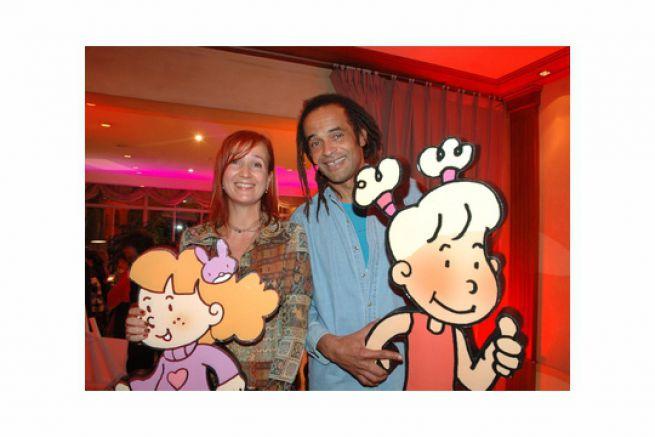 Rhyslène Nusse (Clairefontaine) et Yannick Noah