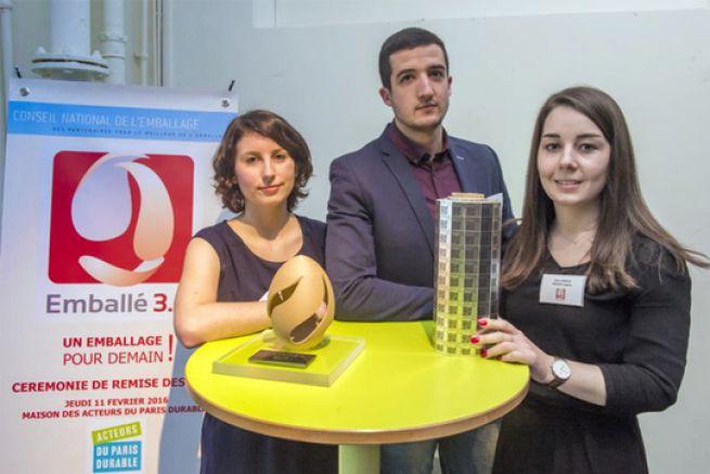 Cindy Peron, Lucas Mejanes et Élise Hiroux du FS Pack Cognac ont présenté One Pill.