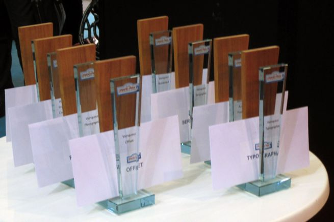 Trophées décernés lors du Grand Prix de l'étiquette adhésive 2016