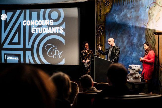 Gilles Deléris lors de la remise des prix étudiants du Club des directeurs artistiques.
