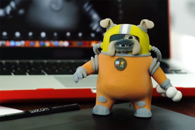 Extrait de la vidéo de présentation de Intuos 3D de Wacom.