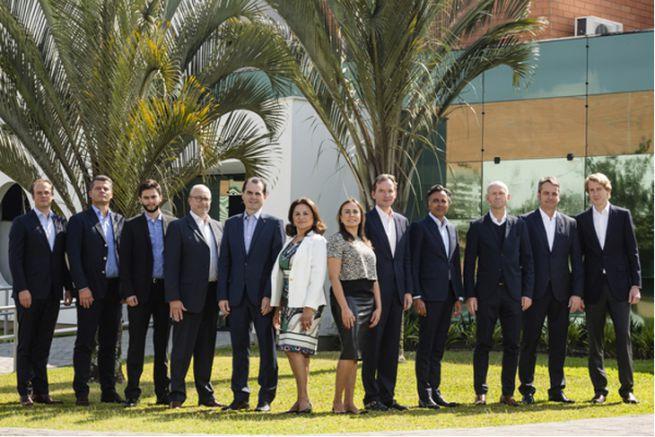 Le nouveau conseil d'administration du groupe.