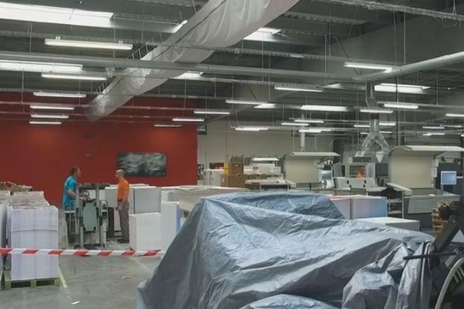 Le nouvel atelier en cours d'installation.