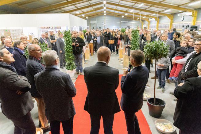 Inauguration des nouveaux locaux de l'imprimerie Alinéa 36 avec le Maire de Châteauroux le 13 novembre 2018.