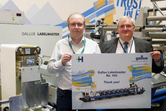 Philippe Carré de Heidelberg France et Christian Linossier, pdg d'Interfas, au salon Labelexpo 2019.