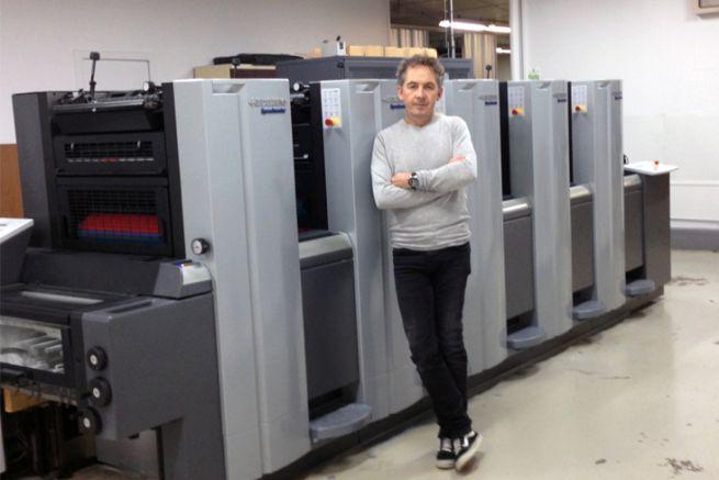 Ludovic Bouley, le pdg de l'imprimerie Bouley, est le petit-fils du fondateur.