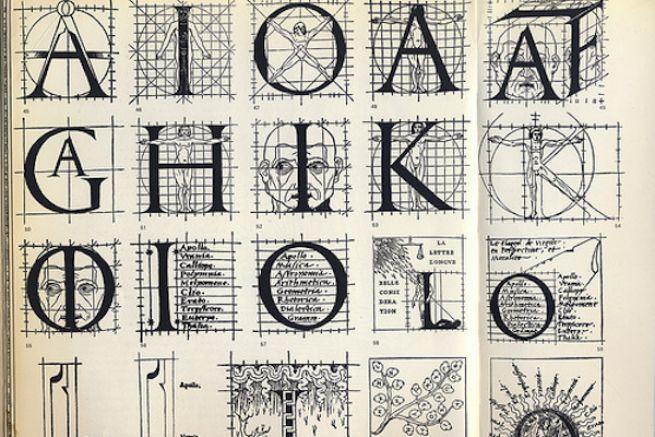 Imprimeur du roi, Geoffroy Tory (16e siècle) a introduit de nouveaux caractères dans la langue française.