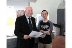 Jacques Chirat, président de l'imprimerie éponyme, en compagnie de Franck Perrot