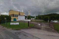 Entrée de l'usine UPM située à Docelles en Lorraine, en juin 2013