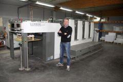 Christophe Doneux a installé sa nouvelle Komori dans son altelier situé à Mettet en Belgique, en mi-février