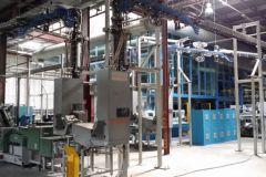 Salle des machines du site de Roto Alba France désormais vide