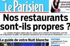 Une du dernier Parisien imprimé à Saint-Ouen