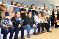 L'inauguration du cœur de ce projet, le PC Course, a rassemblé la quasi totalité des 110 salariés.