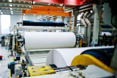 Production de papier sur le site de Langerbrugge en Belgique.