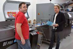 Hervé Veinguertener, à gauche, responsable de production, et Philippe Carreau, à droite, directeur de Copiver.