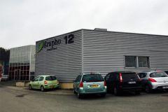 L'actuel bâtiment de Grapho 12 situé à Villefranchois dans l'Averyon.