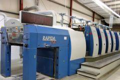Presse offset KBA Rapida 105 mise aux enchères par l'imprimerie Faber