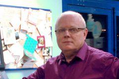 Gabriel Fraisse, co-fondateur et co-directeur de l'imprimerie Bureau 2000 située dans le Finistère.