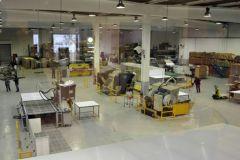 300 m2 de l'atelier sont en train d'être aménagés pour recevoir la Jeti Mira.