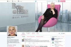 La page Twitter de Sherry Chris est Sherry Chris Pink !