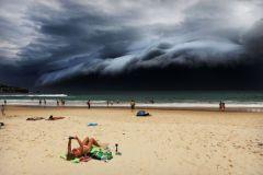 Orage face à la plage de Bondi