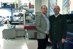 Hugo Chanteur, président de Nice Colors, et son père Jean-François, directeur associé de l'imprimerie parisienne.
