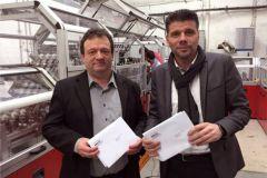 Christian Delas, directeur du développement de Cogeser DS, aux côtés de Bruno Teixeira, DG sur le site parisien.
