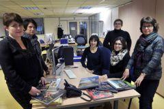 Une partie des salariés de Centre France Livres, anciennement De Borée.