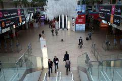 A moins de 24h de l'ouverture de la Drupa, le grand hall est encore presque vide