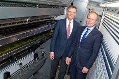 Le président du directoire de KBA Claus Bolza-Schünemann et le directeur financier Mathias Dähn