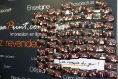 Les visiteurs du stand Realisaprint.com ont pu repartir avec une photo imprimée en live et affichée sur le Wall