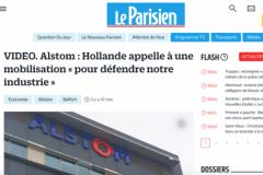 Capture d'écran du nouveau site du journal Le Parisien.