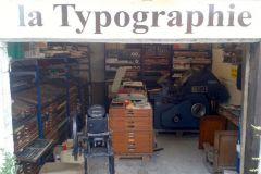 L'entrée du musée de la typographie créé par l'ancien imprimeur Ronald Coëns