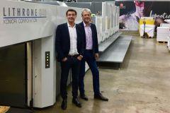 Dominique Settbon (à g.), président d'Axiom-Graphic, et Nassib Kazma, son associé, sont très heureux de cet investissement.