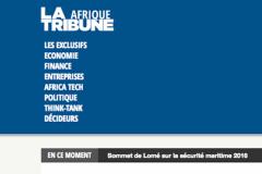 Capture d'écran du nouveau média lancé par La Tribune sur l'actualité économique africaine.