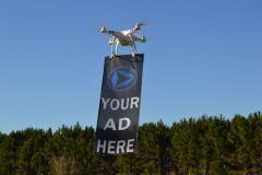 Le drone-vertising, quand la publicité s'envole.