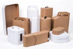 Ces emballages aux formes incurvés de SCA illustrent très bien l'innovation permettant de réduire la quantité de matière.