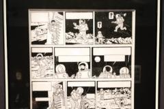 Planche de Tintin (50 x 35 cm), encre de Chine et gouache blanche, vendue 1,55 million d'euros.