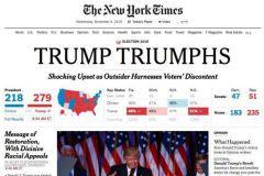 Au lendemain de l'élection de Trump, le New York Times a réimprimé 225 000 ex. supplémentaires.